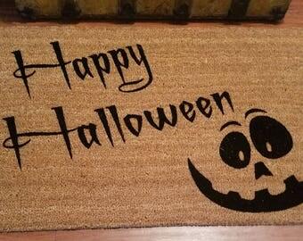 Happy Halloween - Halloween Doormat - Holiday Door Mat - Seasonal Door Mat - Holiday Gifts - Trick or Treat