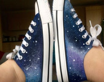 Hand Painted Bespoke Galaxy/Space Shoes