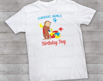 Personalized Curious George Birthday Shirt / Birthday Boy Shirt / Curious George Birthday / Birthday Shirt / Custom Birthday Shirt