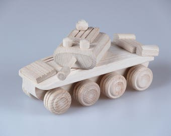Wooden Tank Toy