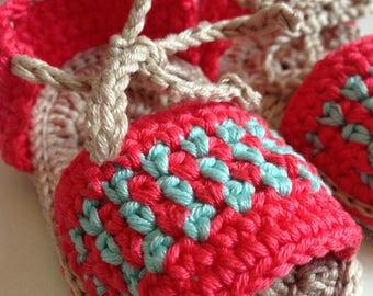 Sandal baby Crochet Cotton