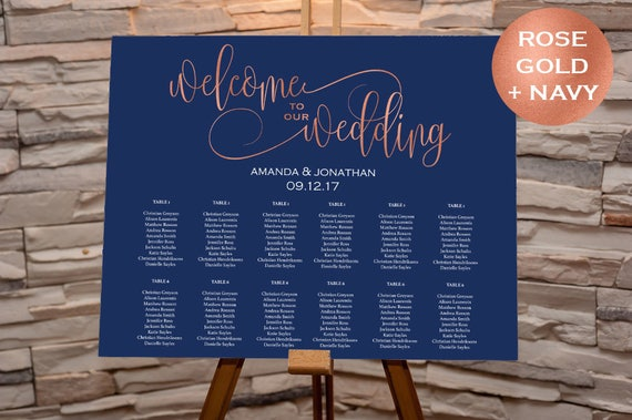 Minimalist Wedding Seating chart