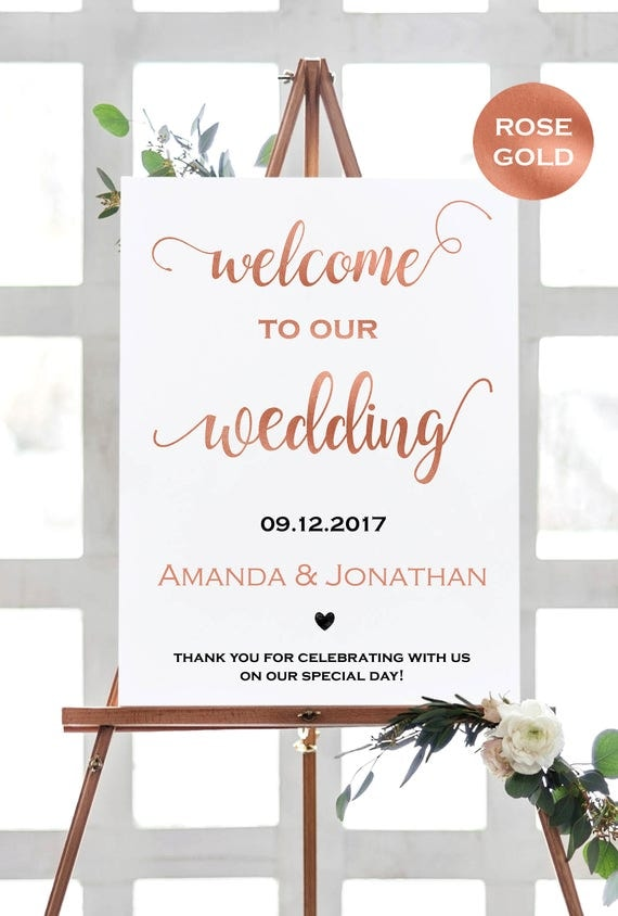 welcome to our wedding sign instant download