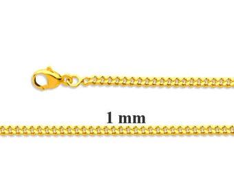 Chain yellow gold 18K 40cm 1 mm - chain gold girl