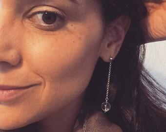 Wedding Long Earrings Simple Crystal Earrings Evening Crystal Earrings Natural Gemstone Bridal Earrings Bridesmaid Gift Gift for Wife