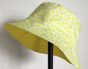 Sunny Summer Lemons Bucket Style Sun Hat for Babies and Kids!