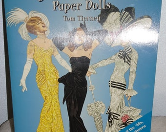 Vintage 1994 Tom Tierney Hollywood Movie Star Paper Dolls 40's, 50's, 60's With Costumes