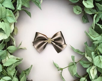 Bronze Metallic Faux Leather Bow {ALICE style} - Easter - Easter 2018
