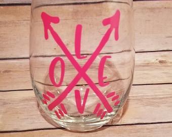 Love Wine Glass