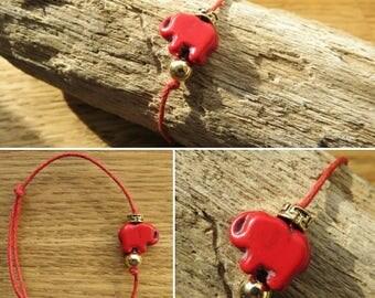 Waxed cotton bracelet 17496