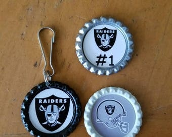 Raiders keychain & magnet set