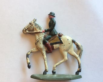 LEAD toy Soldier on Horse Germany  WW I era