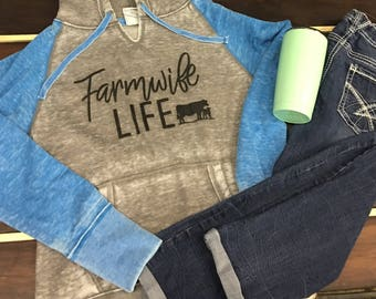 40 Live Sale-large Farmwife with Blue Sleeves