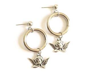O-Ring Silver Angel Studs