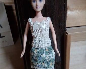 Skirt + top for Barbie