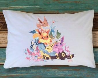 EEVEE Pokemon PillowCase Decoration Extra Soft & Cute Decor Bedding Pokemon Go Plush Leafeon Jolteon Espeon Glaceon Vaporeon Sylveon Umbreon