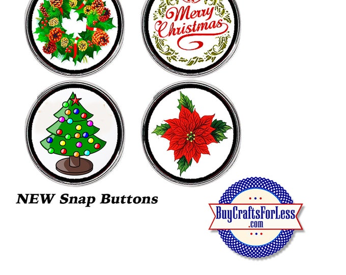 Featured listing image: SNaP CHRiSTMAS ASST'd BUTTONs, 18mm INTERCHaNGABLE Buttons, 4 NEW Styles +FREE Shipping & Discounts