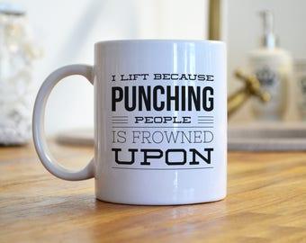 Weight Lifting Mug, Coffee Mug, Weight Lifter, Fitness Mug, Workout Mug, Crossfit Mug, Body Building Mug, Weight Training, Work Out Mug