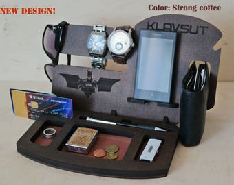 iPhone Docking Station, Mens Gift Ideas, Unique Gift For Husband, Anniversary Gifts For Men, Wood Docking Station, Who Have Everything, Men