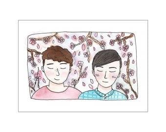 Pastel Boys print, various sizes