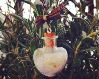 Nature Quartz heart pendant