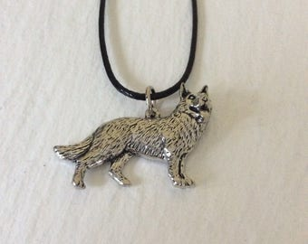 English Pewter German Shepherd necklace / German Shepherd gift / dog necklace / dog jewellery / dog lover gift / animal lover gift