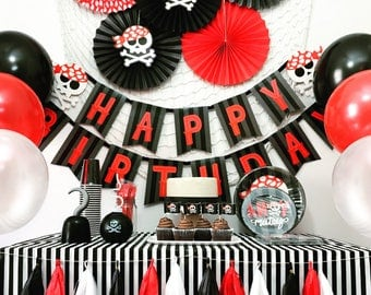 Pirate Party Theme, Pirate Birthday Party Decorations, Pirate Party Package, Pirate Party Kit