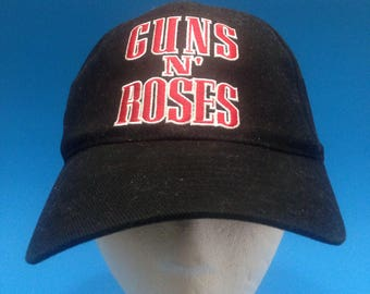 Vintage Guns and Roses Fitted Hat Adjustable flex fit one size fits all 1990s cap