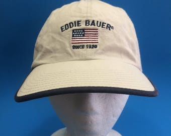 Vintage Eddie Bauer strap back hat adjustable