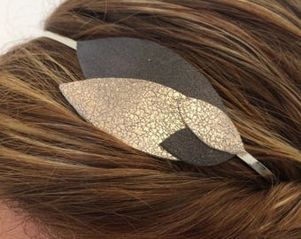 Glitter headband patterns in silver and grey petals