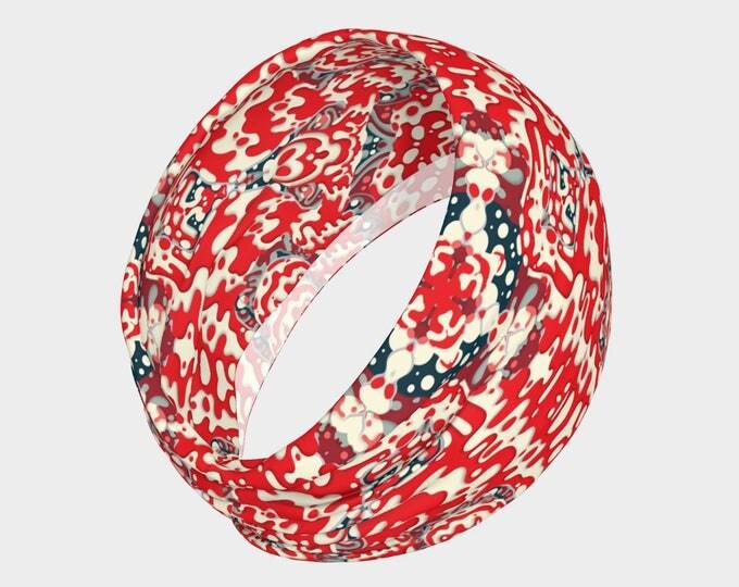 Headbands, Yoga Headband, red bandanna headband, women's headband, neck warmer, infinity scarf