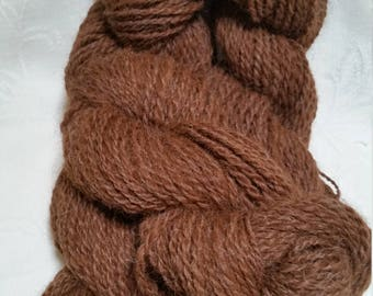Natural colored 100% Alpaca Worsted Handspun Yarn (Lot 23)