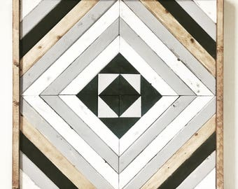 Wood decor // approx 23x23 // tribal decor
