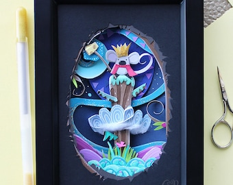 Paper Cut Art - Framed Paper Art // It's All Gouda!
