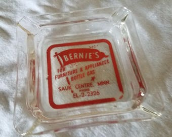 Bernie's Furniture & Appliance Sauk Centre MN Ashtray