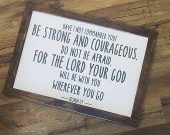 Joshua 1:9 Sign