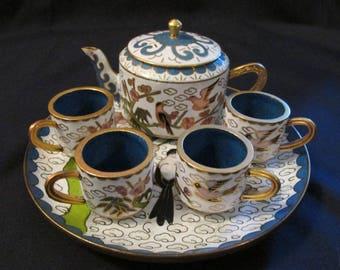 Cloisonne Miniature Tea Set