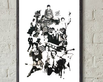 The Beatles 'looking through you' Screen Print