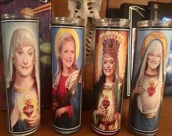 GOLDEN GIRLS prayer candles~Blanche Devereaux ~ Rose Nylund ~ Dorothy Zbornak ~ Sophia Petrillo