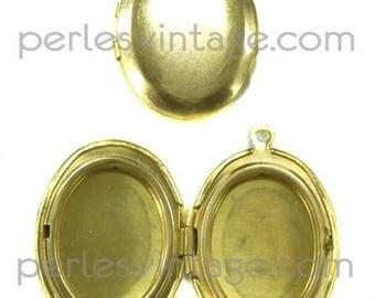 1 brass - medium oval locket pendant