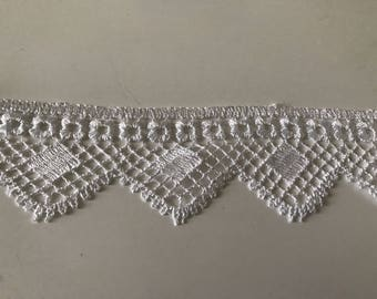 6 cm wide white guipure lace quality