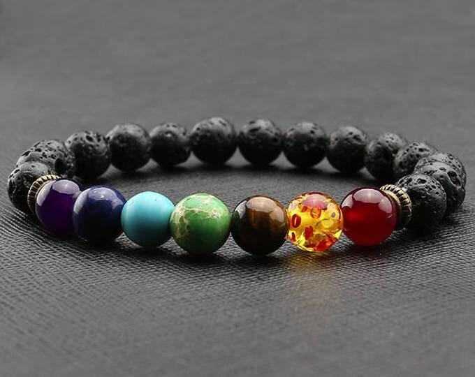 Featured listing image: Aromatherapy Essential oil bracelet, lava bead bracelet, essential oils  bracelet, Reiki Bracelet,  chakras bracelet, turtle bracelet