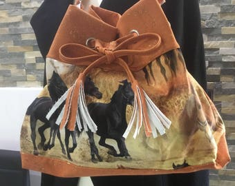 Bag with horse motif