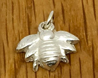 Silver Bumble bee pendant, honey bee pendant, silver honey bee, bumble bee, Honey bee, bumble bee pendant, pendant, charm, silver