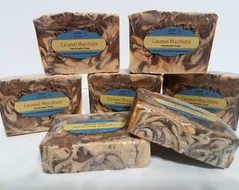 Caramel Macchiato scented soap.