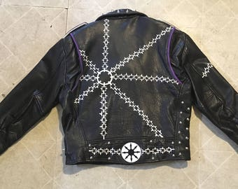 Chaos Chains vintage Wilson's leather jacket mens large