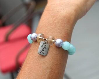 Let Go- Beaded Bracelet