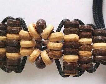 Handmade Friendship Bracelet handmade beads & rope beige Brown adjustable handmade