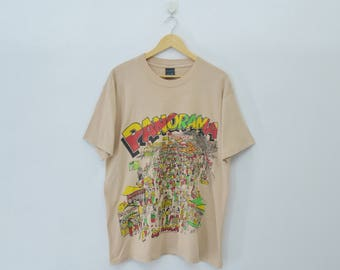 "PANORAMA 'DE TRACK' Shirt Vintage 90's Panorama ""De Track"" Screen Stars Shirt Size Large"