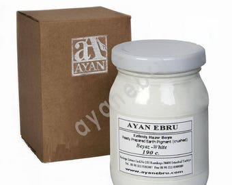 Ebru Marbling Paint Colors-Pigment White 190cc (Ayan)